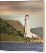 Halifax Harbor Lighthouse Wood Print
