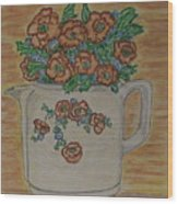 Hall China Orange Poppy And Poppies Wood Print
