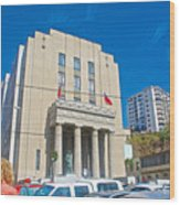 Hall Of Justice In Valparaiso-chile  Wood Print