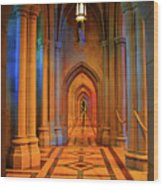 Hall Of The Cathedral Wood Print