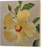 Hallaluiah Hibiscus Wood Print