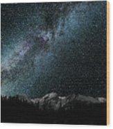 Hallet Peak - Milky Way Wood Print
