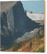 Hallett Peak Fall Colors Wood Print