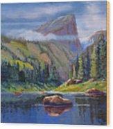 Hallett Peak Wood Print