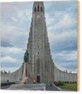 Hallgrimskirkja - The Largest Church In Iceland Wood Print