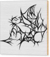 Hallow Web Wood Print