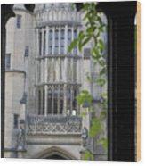 Hallowed Halls In Oxford Wood Print