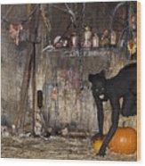 Halloween 2 Wood Print