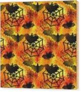 Halloween Abstract - Happy Halloween Wood Print
