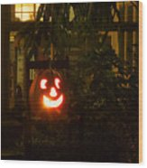 Halloween Beacon Wood Print by Cheri Randolph