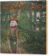 Halloween Card Wood Print
