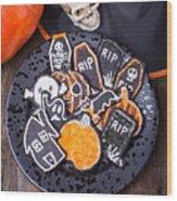 Halloween Cookies Wood Print