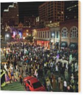 Halloween Draws Tens Of Thousands To Celebrate On 6th Street Wood Print