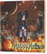 Halloween Girl Wood Print