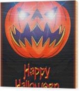 Halloween Greeting Card Wood Print
