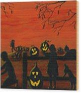 Halloween Harvest Wood Print