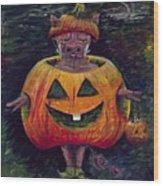Halloween Hog Wood Print