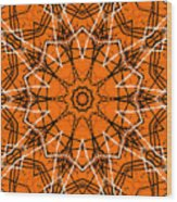 Halloween Kaleidoscope 12 Wood Print