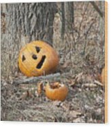 Halloween Leftovers Wood Print