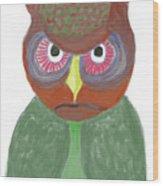 Halloween Owl Wood Print