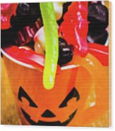 Halloween Party Details Wood Print