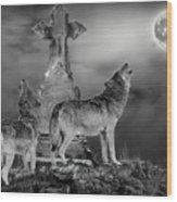 Halloween - Spirits Of The Wolf Wood Print