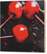 Halloween Toffee Apples Wood Print