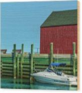 Hall's Harbour Wood Print