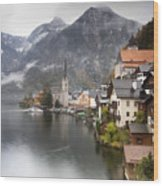Hallstatt Wood Print by Andre Goncalves