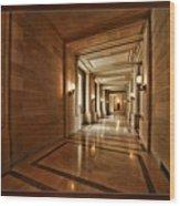 Hallway In City Hall Sf Wood Print
