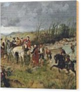 Halt Of Prince Charles Edward On The Banks Of The Nairne Wood Print