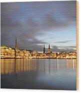 Hamburg Alster Christmas Time Wood Print