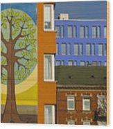 Hamburg Layers 1 Wood Print