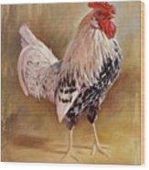 Hamburg Rooster Wood Print