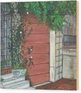 Hamburg Street Garage Wood Print