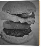 Hamburger And Potato Salad 4 Wood Print