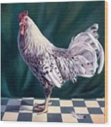 Hamburger Rooster Wood Print