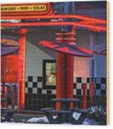 Hamburgs-fries-colas Wood Print