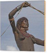 Hamer Tribe Woman, Ethiopia  Wood Print