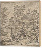 Hamlet On A Mountain Side Wood Print