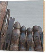 Hammer Heads Wood Print