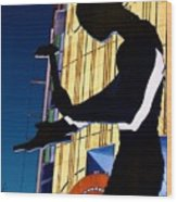 Hammering Man Wood Print
