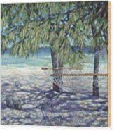 Hammock For Two Wood Print by Danielle  Perry