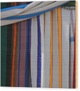 Hammocks In Colored Patterns Wood Print