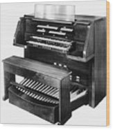 Hammond Organ 1960s Wood Print