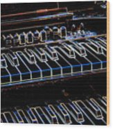 Hammond Organ Wood Print