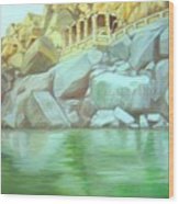 Hampi On Tungabadra 2 Wood Print