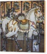 Hampton Carousel Wood Print