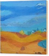 Hampton Dunes Wood Print