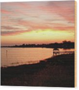 Hampton Virginia Sunset Wood Print